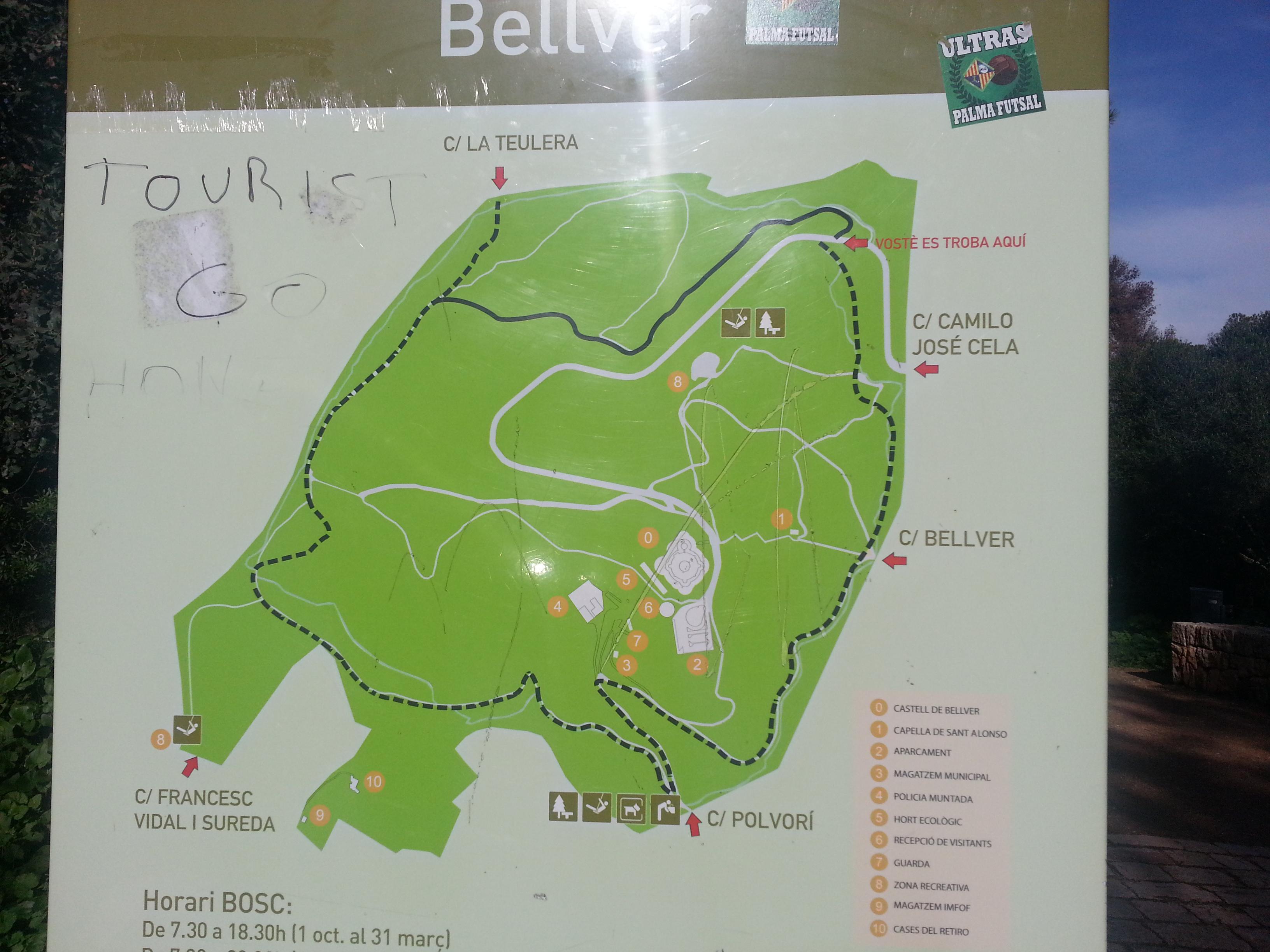 Mapa zona Castillo de Bellver